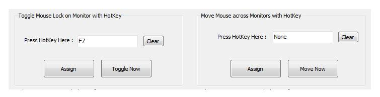 Lock Mouse Cursor onto any Monitor with configurable HotKey