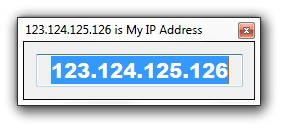 Display IP Address