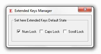 Extended Keys Manager screenshot